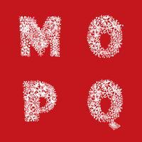 Alphabet Schneeset. Weihnachten Winterurlaub lateinischen Buchstaben