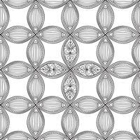 Nahtlose Blümchenmuster Lineare Verzierung. Abstrakter Hintergrund