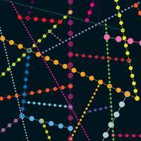 Nahtloses Muster des abstrakten geometrischen Punktes. Blase Molekül Hintergrund