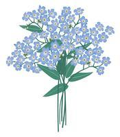 Blumen isoliert. Blumensommerblumenstrauß. vektor