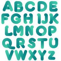 Abstraktes grünes Typografie-Design vektor