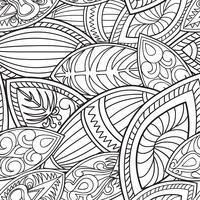 Blom- orientaliskt sömlöst mönster. Abstrakt linjär etnisk bakgrund