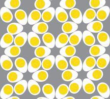 Ägg sömlösa mönster. Mat bakgrund.