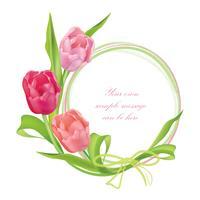 Blumenstrauß Blumenrahmen. Sommer Grußkarten Hintergrund vektor