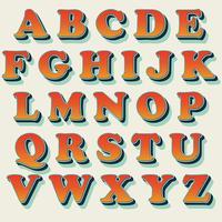 Klassischer orange Typografieentwurf vektor
