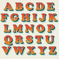 Klassisk orange typografi design vektor