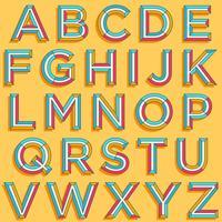 Bunter Typografieentwurf vektor