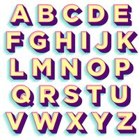 Bunter mutiger Typografieentwurf vektor