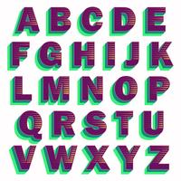 Djärv lila typografi design vektor