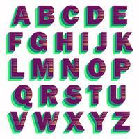 Mutiger lila Typografieentwurf vektor