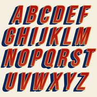 Extra mutiger roter Typografieentwurf vektor