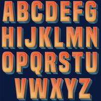 Fet orange typografi design vektor