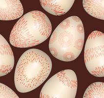 Påskägg undertecknar sömlöst mönster. Påsk hälsningskort bakgrund