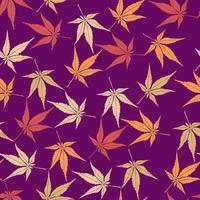 Abstraktes Blumenmuster. Blätter wirbeln nahtlose Hintergrund vektor