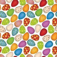 Ostereier unterzeichnen nahtloses Muster. Ostern Grußkarte Hintergrund vektor