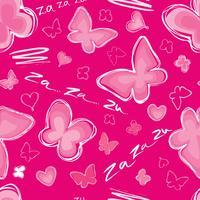 Herz, nahtlose Muster Valentinstagfeiertagsfliesenverzierung des Schmetterlinges vektor