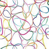 Abstrakt virvelnät sömlöst mönster. Kaotisk flödes rörelsestruktur. vektor