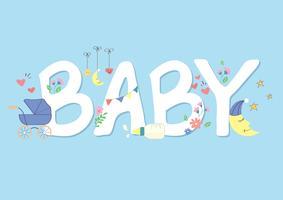 süßes Baby Schrift Vektor