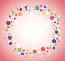 Abstrakt färgrik rund cirkel bakgrund
