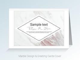 Marmorgrußkarten und Abdeckungshintergrund. vektor