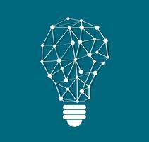 denkende Symbolpolygone entwerfen in der Glühlampeform, eco Konzept, Weltumwelttag vektor