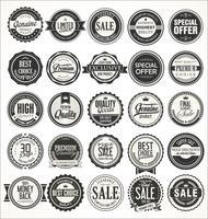 Retro vintage märken och etikettsamling