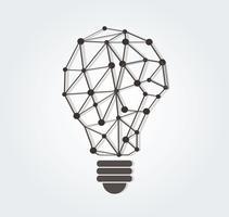 tänkande symbol polygoner design i glödlampa form, eko koncept, World Environment Day