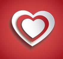 hjärtat i hjärtformatikonen. Alla hjärtans dag bakgrund vektor
