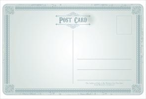 Retro- Weinlesedesign des Postkartenvektors