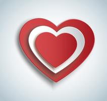 Herz in Herzform-Symbol. Valentinstag Hintergrund
