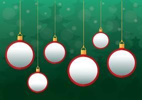 Weihnachtskugeln Hintergrund vektor