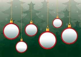 Julbollar bakgrund