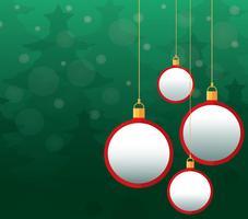 Julbollar bakgrund vektor