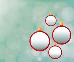 Röd julbollar och bakgrund vektor