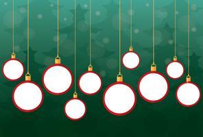 Rote Weihnachtsbälle und -hintergrund vektor