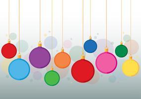färgglada julboll bakgrunds vektor