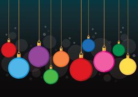 bunter Weihnachtskugel-Hintergrundvektor vektor