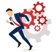 affärsman med redskap till framgång koncept vektor