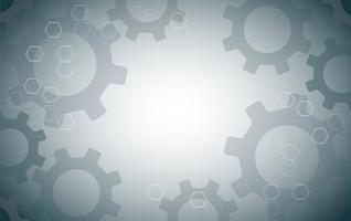 Abstrakt Gears och Hexagon bakgrund vektor