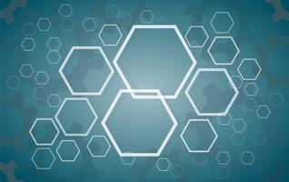 Abstrakter Hexagon- und Ganghintergrund vektor