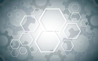 Abstrakt Hexagon och Gears bakgrund