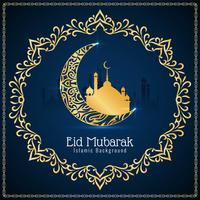 Abstrakt vacker Eid Mubarak festival bakgrund vektor