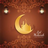 Abstrakt religiös Eid Mubarak islamisk bakgrund vektor