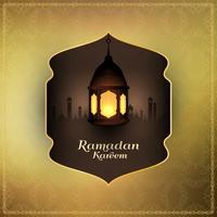 Abstrakt islamisk festival religiös bakgrund vektor