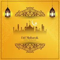 Abstrakt Eid Mubarak elegant dekorativ bakgrund vektor