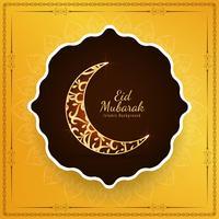 Abstrakt religiös islamisk Eid Mubarak bakgrund