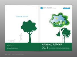 Cover design årsrapport, Green Energy Concept. vektor