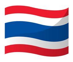Thailändsk flaggikon, Thailand flagg vektor