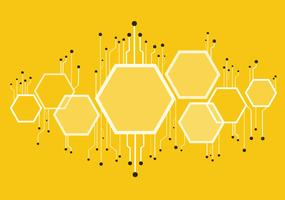 abstrakte Bienenstock, Sechseck und Technologie Linie Hintergrund
