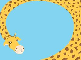 Giraffe Cartoon Hintergrund Vektor